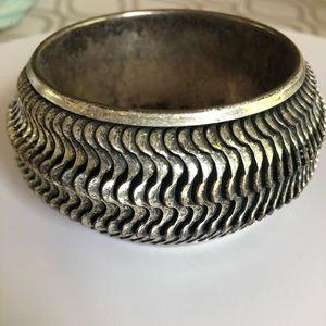 Mango Silver Heavy Metal Bracelet
